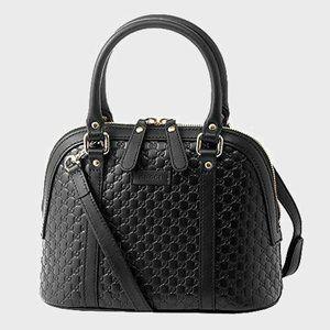 NWT GUCCI MicroGuccissima Black Dome Crossbody Bag